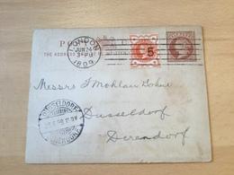 SCH1816 Großbritannien Ganzsache Stationery Entier Postal Preprinted Used Psc From London To Düsseldorf - 1840-1901 (Victoria)