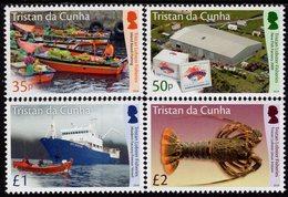 Tristan Da Cunha - 2019 - Tristan Lobster Fisheries - Mint Stamp Set - Tristan Da Cunha
