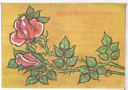ALEMANIA IMPRESO PARA TELEGRAMAS TELEGRAM FLORA FLOWER ROSA ROSE - Rosas