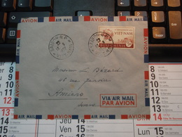 Enveloppe   Timbre  VIET-NAM Par Avion  1952   BUU-CHINH  5$ - Vietnam
