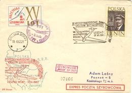POLOGNE POLSKA POLEN 1171 (o) Brief  Lettre Cover SZYBOWCEM Szybowcowa 1962 Planeur Glider Leszno [GR] - Airmail