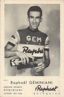 Carte Cyclisme Raphaël Géminiani Et Publicité St-Raphael Quinquina - Ciclismo