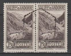 ANDORRA C. FRANCES  PAREJA SELLOS USADOS Nº 78  (S.5.B.) - Andorra Francese