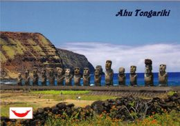 "1 AK Osterinsel Easter Island * Steinstatuen Der Osterinsel - Moai Gruppe ""Ahu Tongariki"" - Seit 1995 UNESCO Welterbe - Rapa Nui"