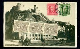 1925 Trencin Castle/Fortress,TATRA Hotel,PORTO/Tax Due,card To ARAD/Romania - 1918-1948 Ferdinand, Charles II & Michael