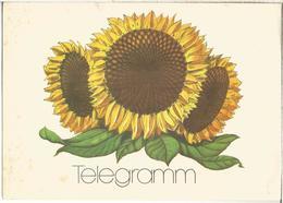 ALEMANIA IMPRESO PARA TELEGRAMAS TELEGRAM FLORA FLOWER GIRASOL SUNFLOWER - Vegetales