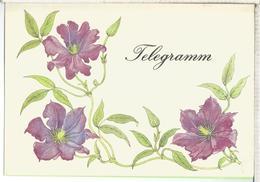 ALEMANIA IMPRESO PARA TELEGRAMAS TELEGRAM FLORA FLOWER - Vegetales