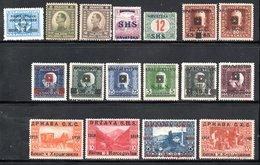 TIMBRES ANCIENS - 1919-1929 Königreich Der Serben, Kroaten & Slowenen
