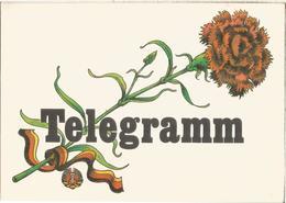 ALEMANIA IMPRESO PARA TELEGRAMAS TELEGRAM FLORA FLOWER - Rose