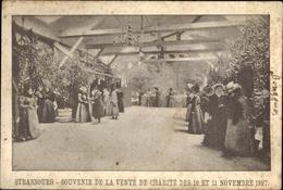 Cp Strasbourg Straßburg Elsass Bas Rhin, Souvenir De La Vente De Charité Des 10 Et 11 Novembre 1897 - France