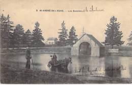 27 - ST ANDRE DE L'EURE : Les Bassins (et Le Vélodrome) Attelage En 1er Plan - CPA Village (3.990 Habitants) - Eure - Altri Comuni
