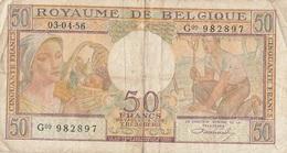 50 F Belgique 1956 - [ 4] Belgische Bezetting Van Duitsland