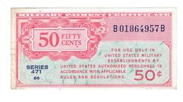 MPC - CERTIFICAT DE PAIEMENT MILITAIRE AMERICAIN - 50 CENTS - SERIE 471 - SUP - Military Payment Certificates (1946-1973)