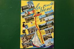 F 5 )  LA ROUTE BLEUE PARIS MARSEILLE  REF CARTE 1956   N7  DIVERS VUES - Francia