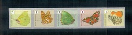 R131  Vlinders - Papillons  Type A  Strook Van Vijf Met Nummer Op Keerzijde.  Bande De Cinq Avec Numéro Au Verso. - Francobolli In Bobina