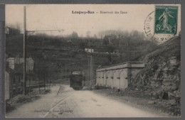 LONGWY-BAS (54) - Réservoir Des Eaux - ANIMÉE ( Tramway Avec Publicité PORTUNA) - RARE!!! - Longwy