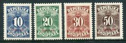ALBANIA 1925 Postage Due Overprinted Qindar LHM / *. Michel Porto 26-29 - Albania