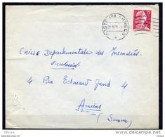 Am4050 Oblitération Klussendorf Muette Poste Aux Armées / Marianne Muller 15f Lettre 1956 - Marcophilie (Lettres)