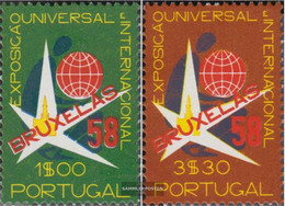 Portugal 862-863 (complete Issue) Unmounted Mint / Never Hinged 1958 World's Fair - 1910-... Republic