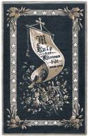 Mémoire. Lambin Justin.veuf 1 Ste. Femme. De Boo. Epoux De Amerlinck E. ° Ypres 1836 † Bruges 1894  (2 Scan's) - Religion &  Esoterik