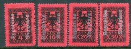 ALBANIA 1925 Postage Due  With White Overprint LHM / *. Michel Porto 22-25 - Albania