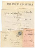 LETTRE TIMBRE  TYPE SAGE PERFORE B. S  AVEC CORRESPONDANCE  BANQUE SPECIALE 1899 Pour LE QUESNOY (NORD) - France