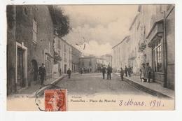 POUZOLLES - PLACE DU MARCHE - 34 - Francia