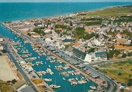 Courseulles Sur Mer Vue Panoramiique Aérienne Sur La Ville Et Le Port - Courseulles-sur-Mer
