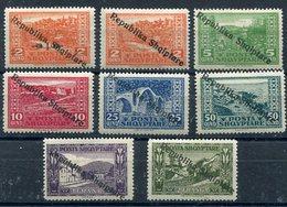 ALBANIA 1925 Overprint On Definitive LHM / *. Michel 118-25 - Albania