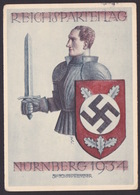 AK Propaganda / REICHSPARTEITAG NÜRNBERG 1934 / Gelaufen 1934 - Weltkrieg 1939-45