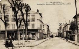 Le Chesnay Carrefour St-Antoine Rue De Versailles Circulée En 1929 - Le Chesnay