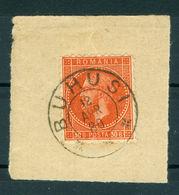 1878/1880 Prince Carol I,BUCUREST I,Romania,Mi.47, 30 B.on Piece,BUHUSI - 1858-1880 Fürstentum Moldau