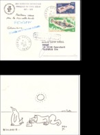 TAAF LETTRE 26/12/1971 TERRE ADELIE N°32 ET N°34 - Tierras Australes Y Antárticas Francesas (TAAF)