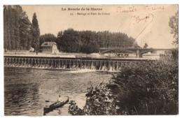 CPA 94 - CRETEIL (Val De Marne) - 29. Barrage Et Pont De Créteil - La Boucle De La Marne - Creteil
