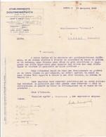 62-Ets Doutremepuich...Arras..(Pas-de-Calais)..1933 - Other