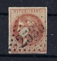 FRANCE 1870:  2c. Cérès Brun-rouge ND (Y&T 40b) Oblitéré  GC 2535 (Morez-du-Jura),  TTB LUXE - 1870 Uitgave Van Bordeaux