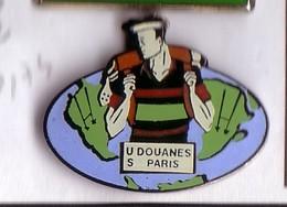 P174 Pin's Club De Rugby Des Douanes De Paris Achat Immédiat - Rugby
