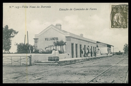 ALVITO - VILA NOVA DA BARONIA - ESTAÇÃO DOS CAMINHOS DE FERRO- (Ed. Alberto Malva Nº123)  Carte Postale - Beja