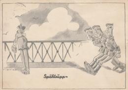 AK - WK II - Spähtrupp - Feldpost 1940 - Humor