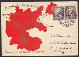 AK Propaganda / EIN VOLK EIN REICH EIN FÜHRER / Deutsches Turn & Sportfest - Breslau 1938 - Guerre 1939-45