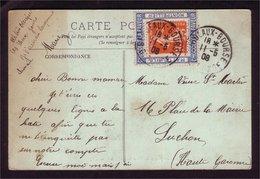 Semeuse N° 138 Sur Carte Et Porte Timbre CHOCOLAT LA FAVEUR - 1906-38 Semeuse Camée