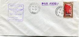 """MADAGASCAR LETTRE PAR AVION AVEC CACHET """" FRANCE LIBRE PREMIERE LIAISON AERIENNE MADAGASCAR SOMALIE FRANCAISE """"......... - Madagascar (1889-1960)"""