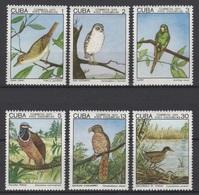Cuba 1975 Kuba Mi 2057-2062  Birds / Einheimische Vögel / Oiseaux / Uccelli / Pájaros / 鳥類 **/MNH - Vogels