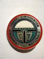 RARE INSIGNE GENDARMERIE NATIONALE LE GIGN EN TRANSLUCIDE  ETAT EXCELLENT JMM HOMOLOGUE G2530 - Police