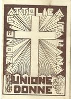 """6462 """" UNIONE DONNE AZIONE CATTOLICA ITALIANA-CONSIGLIO DIOCESANO D'IVREA-TESSERA PER L'ANNO 1937 """" - Religione & Esoterismo"""