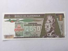GUATEMALA P79 0.50 QUETZAL 16.7.1992 UNC - Guatemala