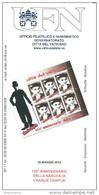 VATICANO - 2014 Brochure Bollettino UFN - Cinema 125° Nascita Di CHARLE CHAPLIN - Acteurs