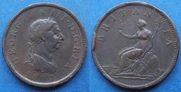 UK - Penny 1807 KM# 663 George III (1760-1820) - Edelweiss Coins - Otros
