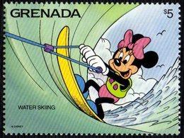GRENADA 1992 - ACTION SPORTS - WALT DISNEY CARTOON - WATER SKIING / MINNIE - MINT - Sci Nautico