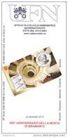 VATICANO - 2014 Brochure Bollettino UFN - 5° Cent. Morte Del Bramante - Francobolli